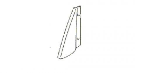 Suzuki Ignis - Jobb oldali hátsó ajtó belső háromszög műanyag borítás 83955-86G00-5PK 1000Ft
