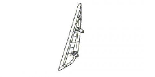 Suzuki Ignis - Jobb oldali hátsó ajtó külső háromszög műanyag borítás 83971-86G00 1000Ft