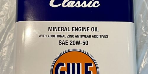 Gulf Classic 5L 20W-50 Motorolaj Kiváló minőségű, többfokozatú, 100%-ban ásványi motorolaj kiegészítő cink kopásgátló adalékokkal benzin- és dízelmotorokhoz. Kimondottan a klasszikus autókban való használathoz fejlesztve. 12900Ft